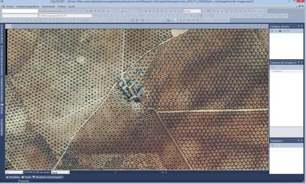 Digi3D mostrando WMTS en formato PNG
