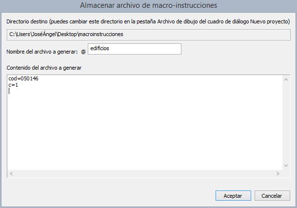 Almacenar archivo de macroinstrucciones