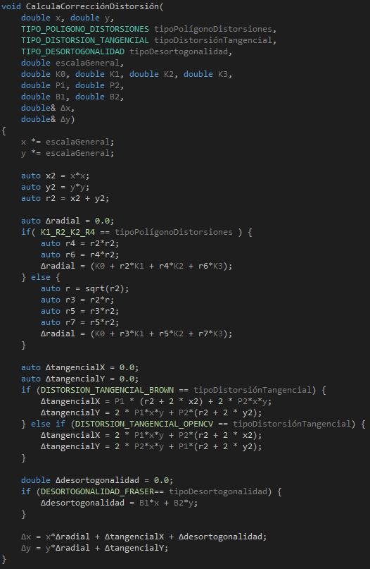 CódigoCalculaCorreccionDistorsion
